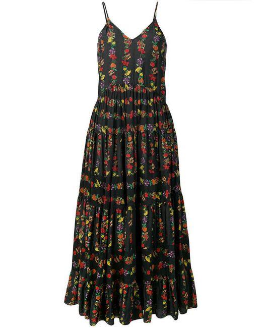 Carolina K - Black Floral Print Dress - Lyst