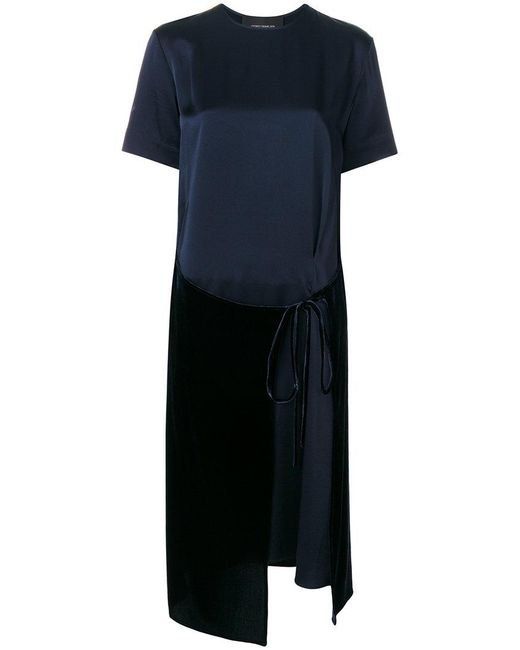 Cedric Charlier - Blue Asymmetric Hem T-shirt Dress - Lyst