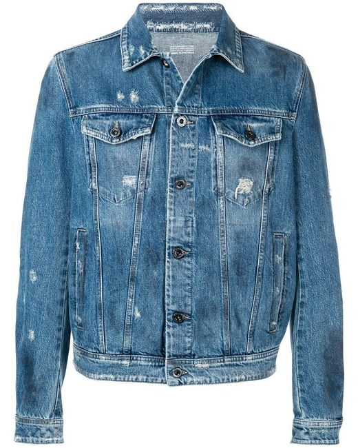 f96d08680e6 Diesel Black Gold - Blue Denim Jacket With Stone-washed Finish for Men -  Lyst ...