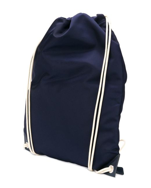 8ea2c5e0c71a ... Prada - Blue Logo Patch Backpack for Men - Lyst ...
