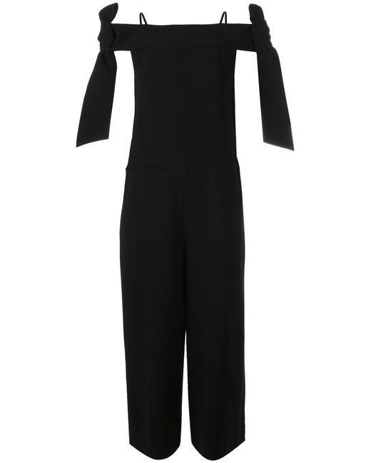 Tibi | Black Relaxed Fit Jumpsuit | Lyst