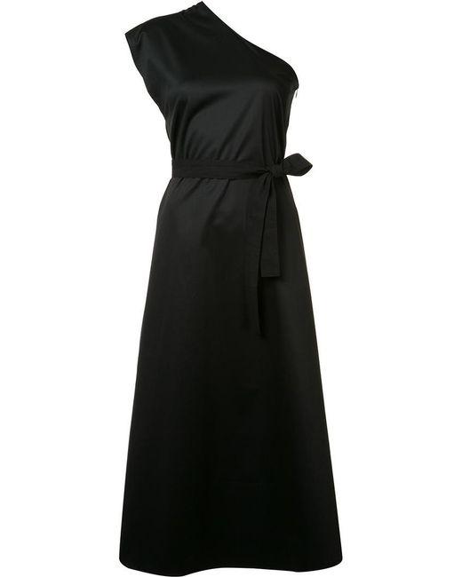 TOME | Black Single Shoulder Belted Dress | Lyst