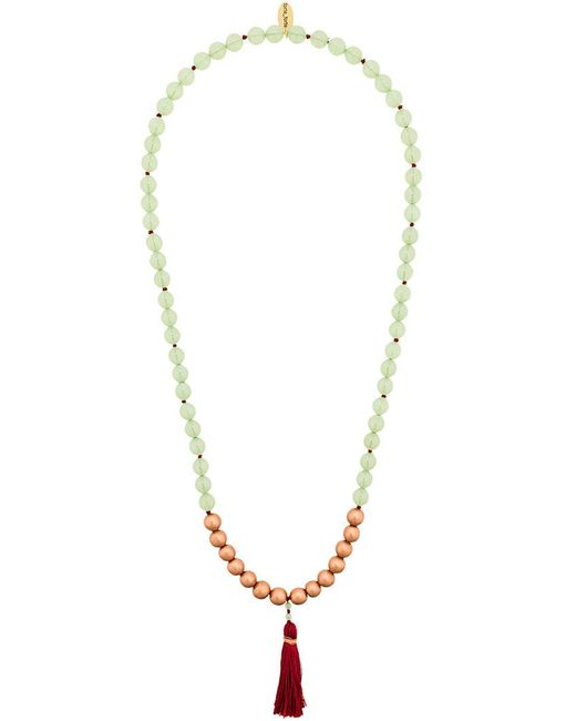 Forte Forte - Green Beaded Tassel Necklace - Lyst