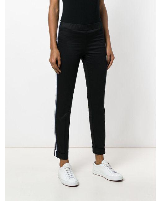 stripe detail trousers - Black P.A.R.O.S.H. PJIhV