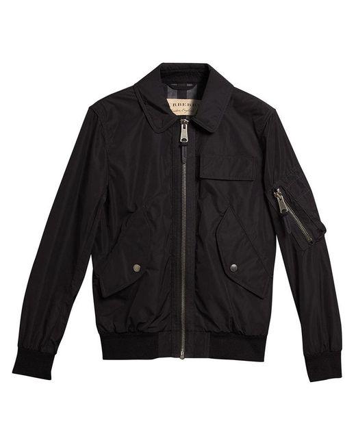 Burberry - Black Showerproof Bomber Jacket - Lyst