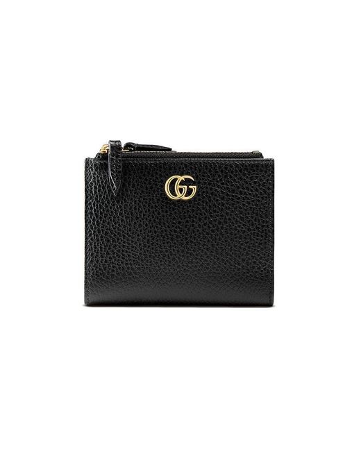 4bd7dcf68 Gucci GG Marmont Leather Wallet in Black - Save 10% - Lyst