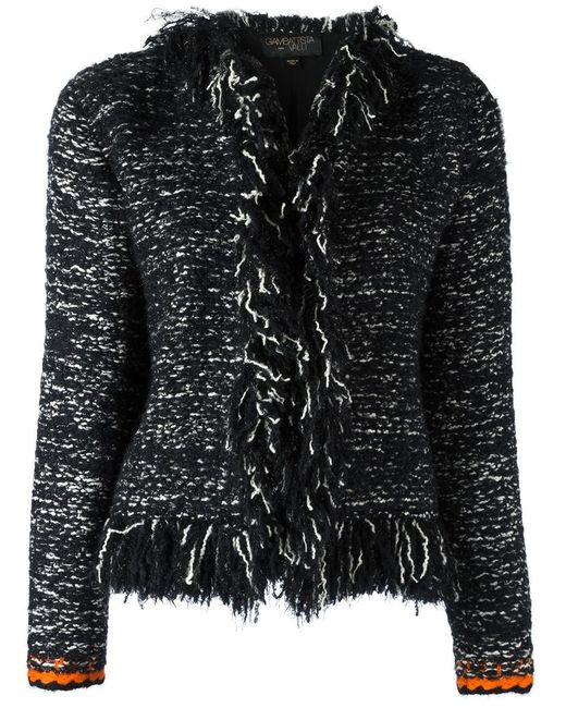 Giambattista Valli | Black Frayed Seam Jacket | Lyst