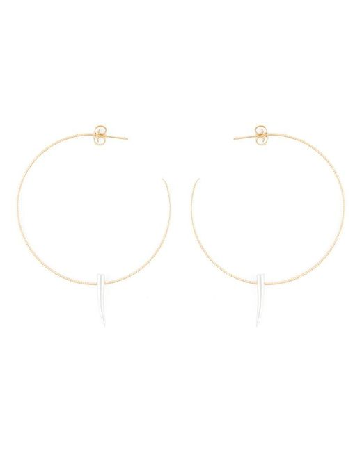 Wouters & Hendrix - Metallic Spiked Hoop Earrings - Lyst
