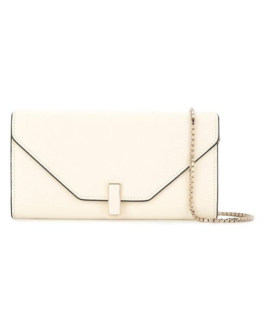 Valextra - White Wallet On Chain Bag - Lyst