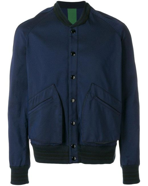 Golden Goose Deluxe Brand - Blue Contrast-hem Bomber Jacket for Men - Lyst