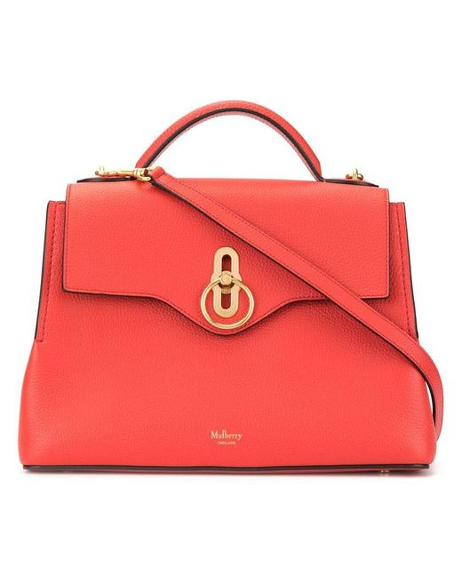 cd1191b9d6 Lyst - Mulberry Small Seaton Tote Bag in Red - Save 6%