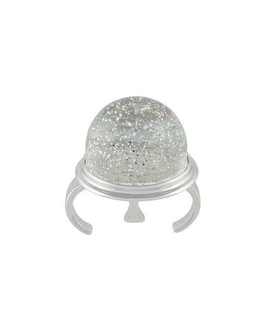 MM6 by Maison Martin Margiela - Metallic Round Sparkly Ring - Lyst