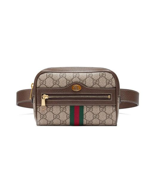 de11ef86e78 Gucci Brown Ophidia GG Supreme Small Belt Bag in Brown - Save 15% - Lyst