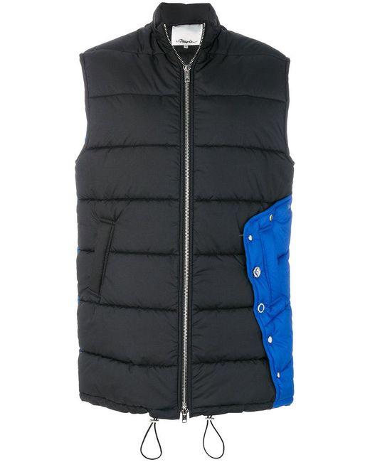 3 1 phillip lim quilted puffer vest in black lyst. Black Bedroom Furniture Sets. Home Design Ideas