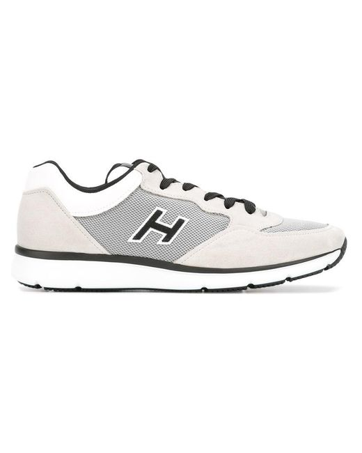 Hogan | Gray Panelled Sneakers for Men | Lyst