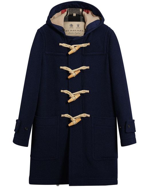 Burberry - Blue The Greenwich Duffle Coat for Men - Lyst