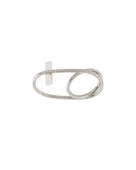 Eshvi - Metallic Double Finger Ring - Lyst