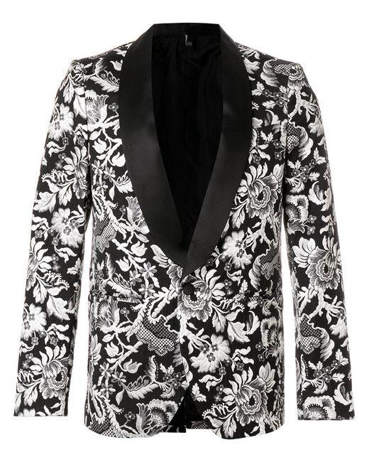 Christian Pellizzari - Black Brocade Smoking Jacket for Men - Lyst