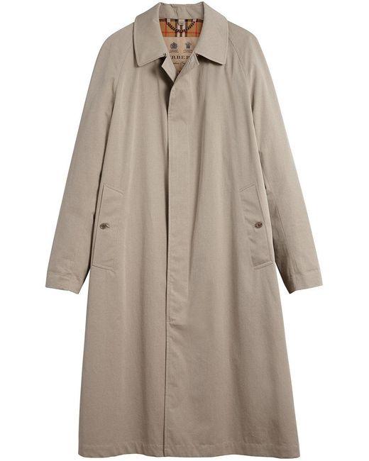 Burberry - Natural Brighton Extra-long Car Coat for Men - Lyst