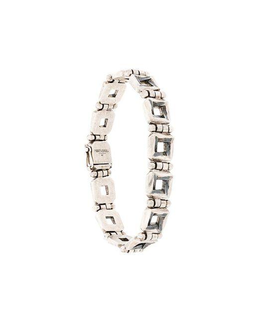 Northskull - Metallic Square Link Bracelet - Lyst