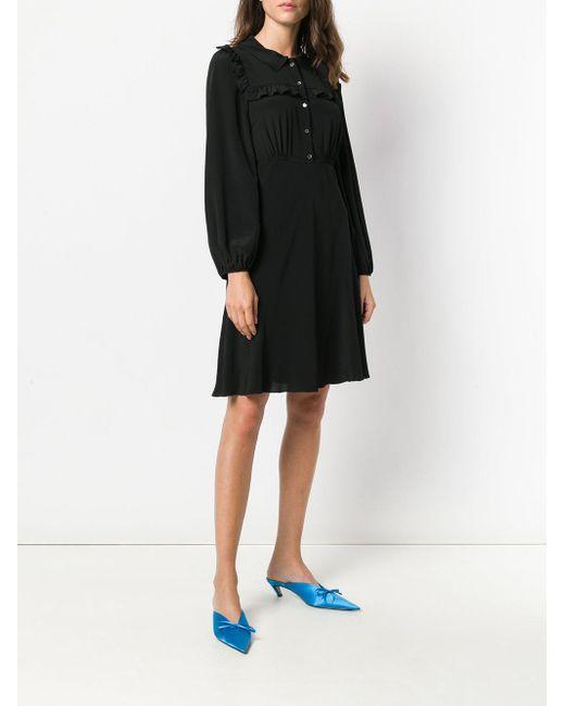 Free Shipping Low Price ruffle-trim shirt dress - Black N°21 Free Shipping Cheap Sale Brand New Unisex I7CUSmQAfL