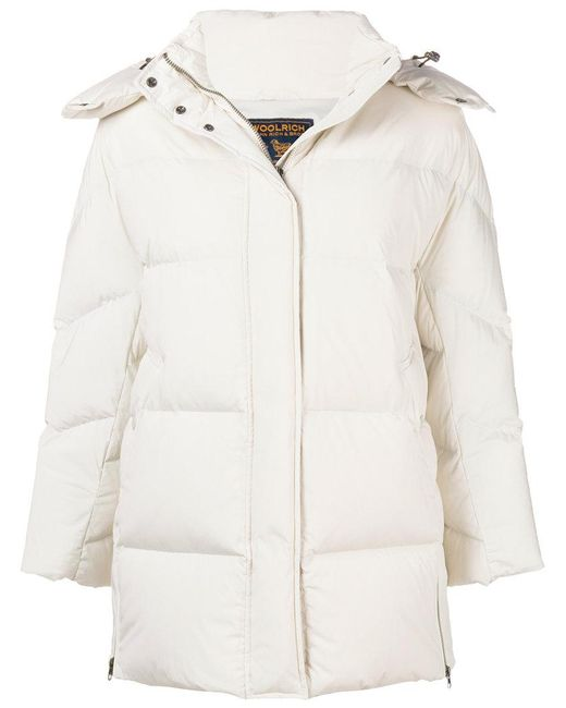 Woolrich - White Padded Down Jacket - Lyst
