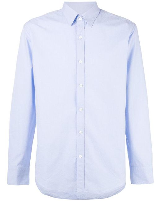 Hardy Amies | Blue Camicia In Twill for Men | Lyst