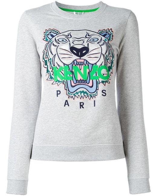 KENZO | Gray Tiger Sweatshirt | Lyst
