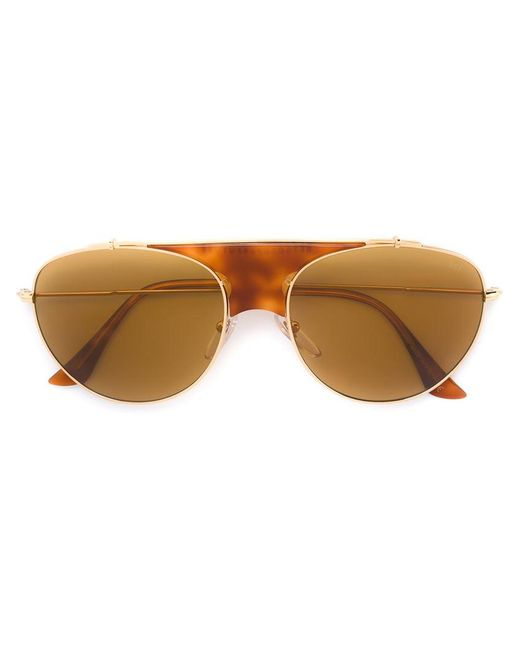 Retrosuperfuture - Brown 'lèon Thompson' Sunglasses - Lyst