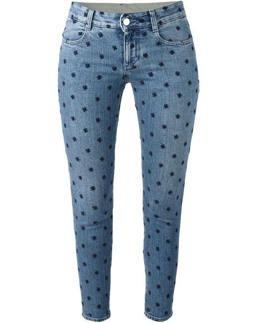 Stella McCartney - Blue Star Skinny Ankle Grazer Jeans - Lyst