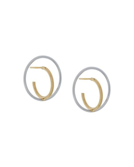 Charlotte Chesnais | Metallic Saturn Small Earrings | Lyst