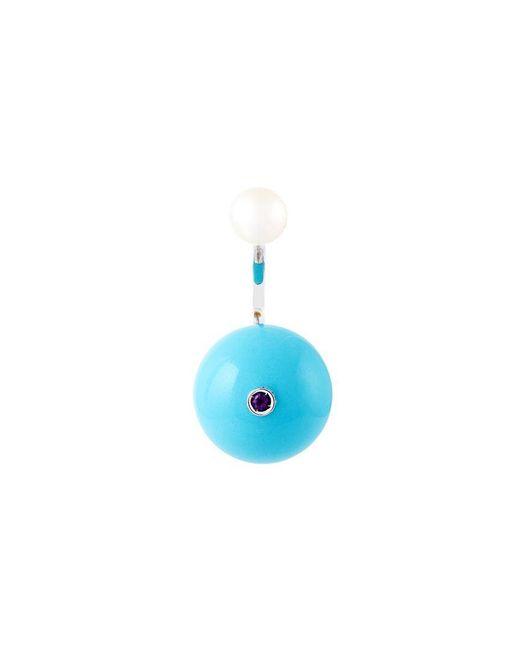 Delfina Delettrez - Blue 'stone Edge Piercing' Earring - Lyst