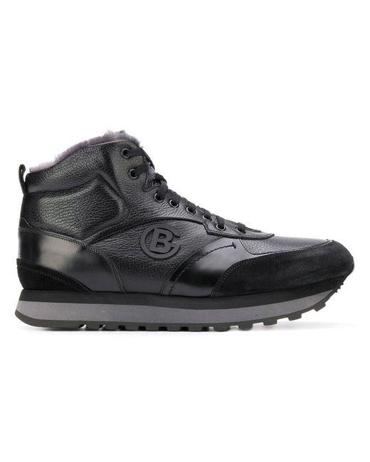 Baldinini - Black Lace-up Hi-top Sneakers for Men - Lyst