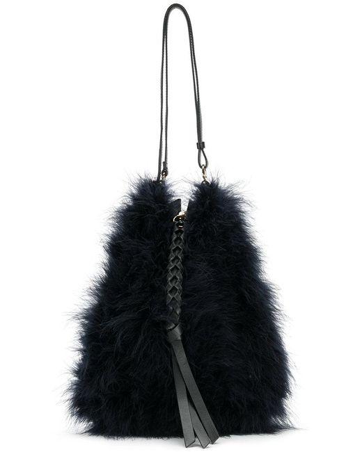 Nina Ricci - Blue Woven Zip Tassel Shoulder Bag - Lyst