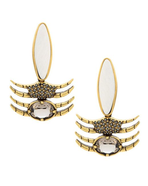 Camila Klein - Metallic Oval Earrings - Lyst