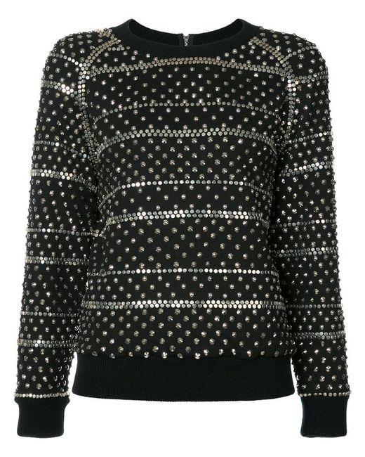 Ashish   Black Studded Sweatshirt   Lyst