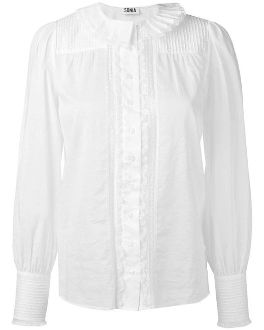 Sonia by Sonia Rykiel | White Pleated Front Shirt | Lyst