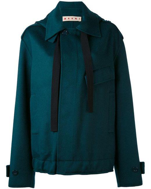 Marni - Green Oversized Placket Jacket - Lyst