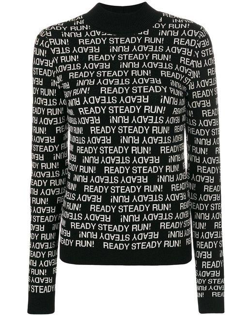 Sportmax | Black Steady Run! Knitted Top | Lyst