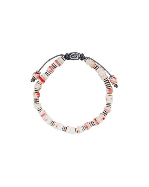 M. Cohen - White Beaded Bracelet for Men - Lyst
