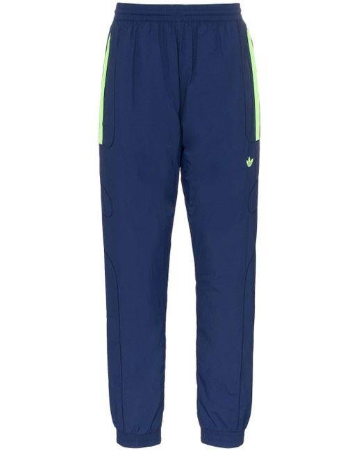 Pantalones de chándal con tripe raya Adidas de hombre de color Blue