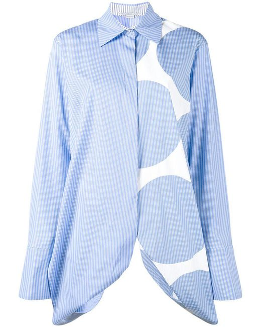 Stella McCartney | Blue Manuela Multi-print Shirt | Lyst