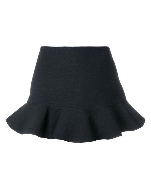 Valentino - Black Flared Mini Skirt - Lyst