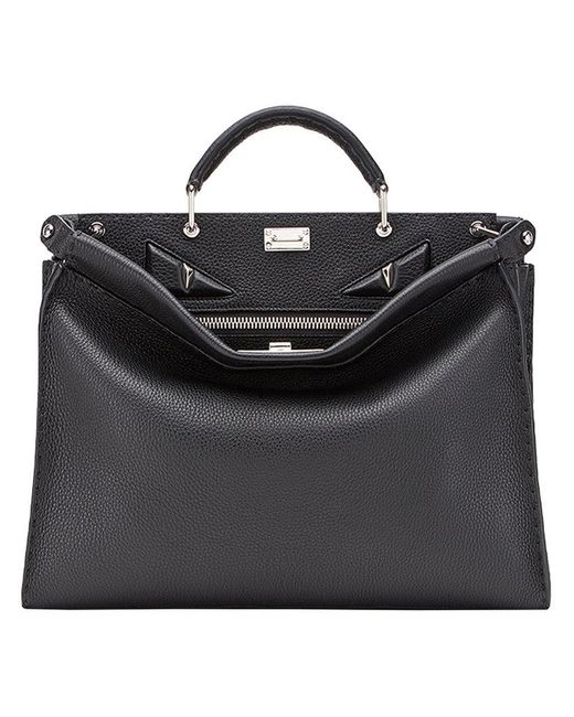 1c4c28c04c Fendi - Black Peekaboo Fit Tote Bag for Men - Lyst ...
