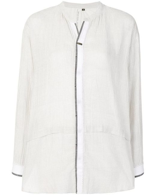 Pas De Calais - White Thin Striped Shirt - Lyst