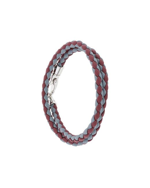 Tod's - Red Classic Woven Bracelet for Men - Lyst