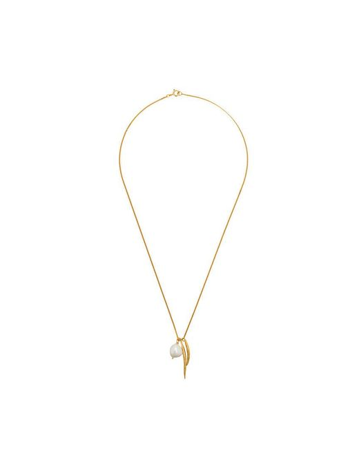 Wouters & Hendrix - Metallic My Favourite Freshwater Pearl And Spike Pendant Necklace - Lyst