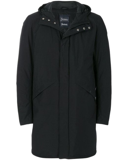 Herno - Black Parka Imbottito for Men - Lyst