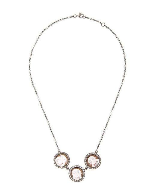 Amedeo | Metallic 'three Monkeys' Necklace | Lyst