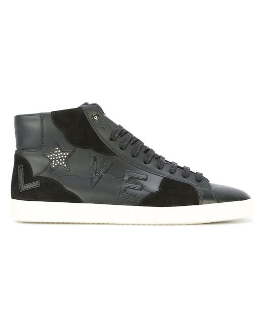 d415c46182f Saint Laurent - Black Signature Court Classic Sl/06m Love High-top Sneakers  for ...